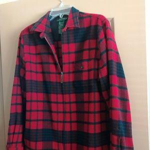 Ladies Red Plaid Ralph Lauren Wool Jacket Large